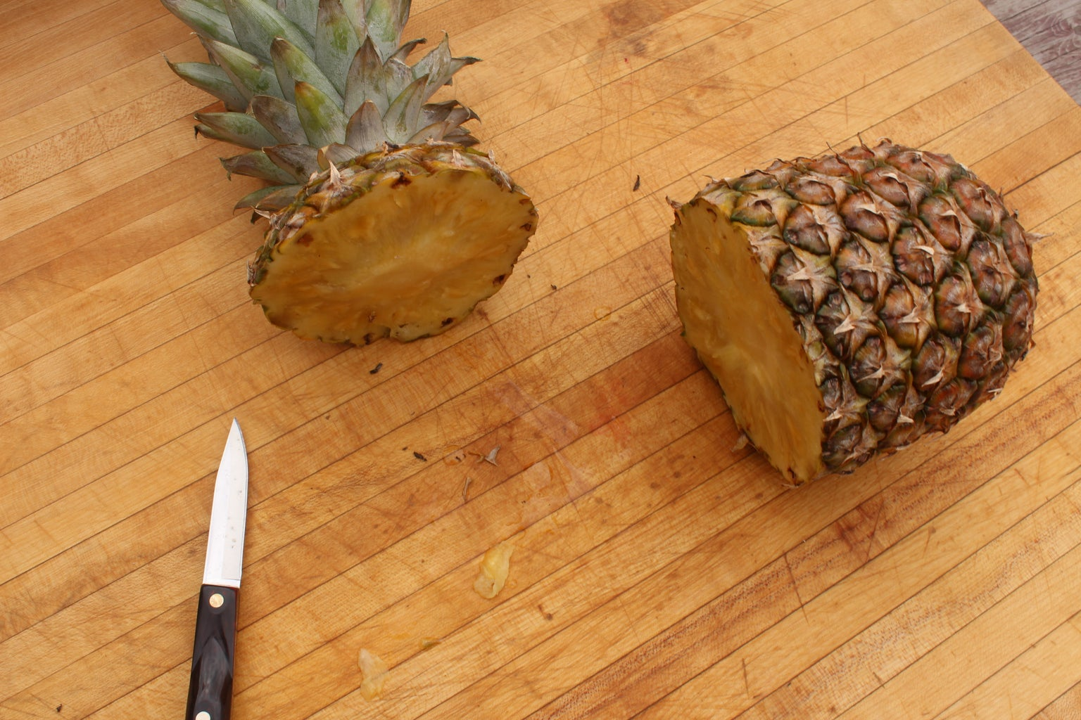 Make the Pineapple Cup and Prep Fruit