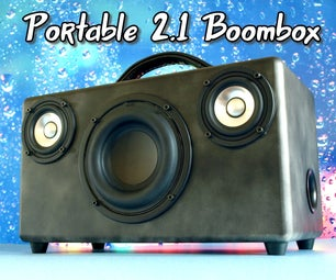 Portable Bluetooth 2.1 Boombox