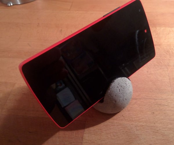 Concrete Phone Stand From a Tennis Ball