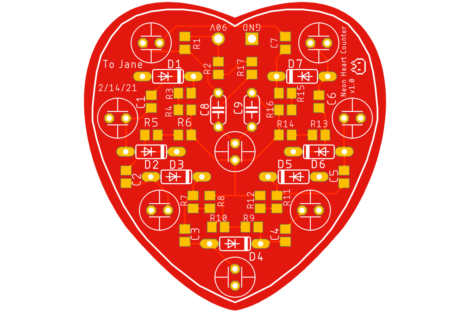 Design the Heart-Shaped PCB