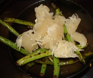 Caramelized Garlic Green Bean Salad With Pomelo