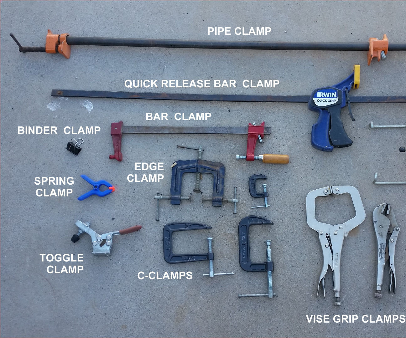 Clamps, Clamps, and More Clamps