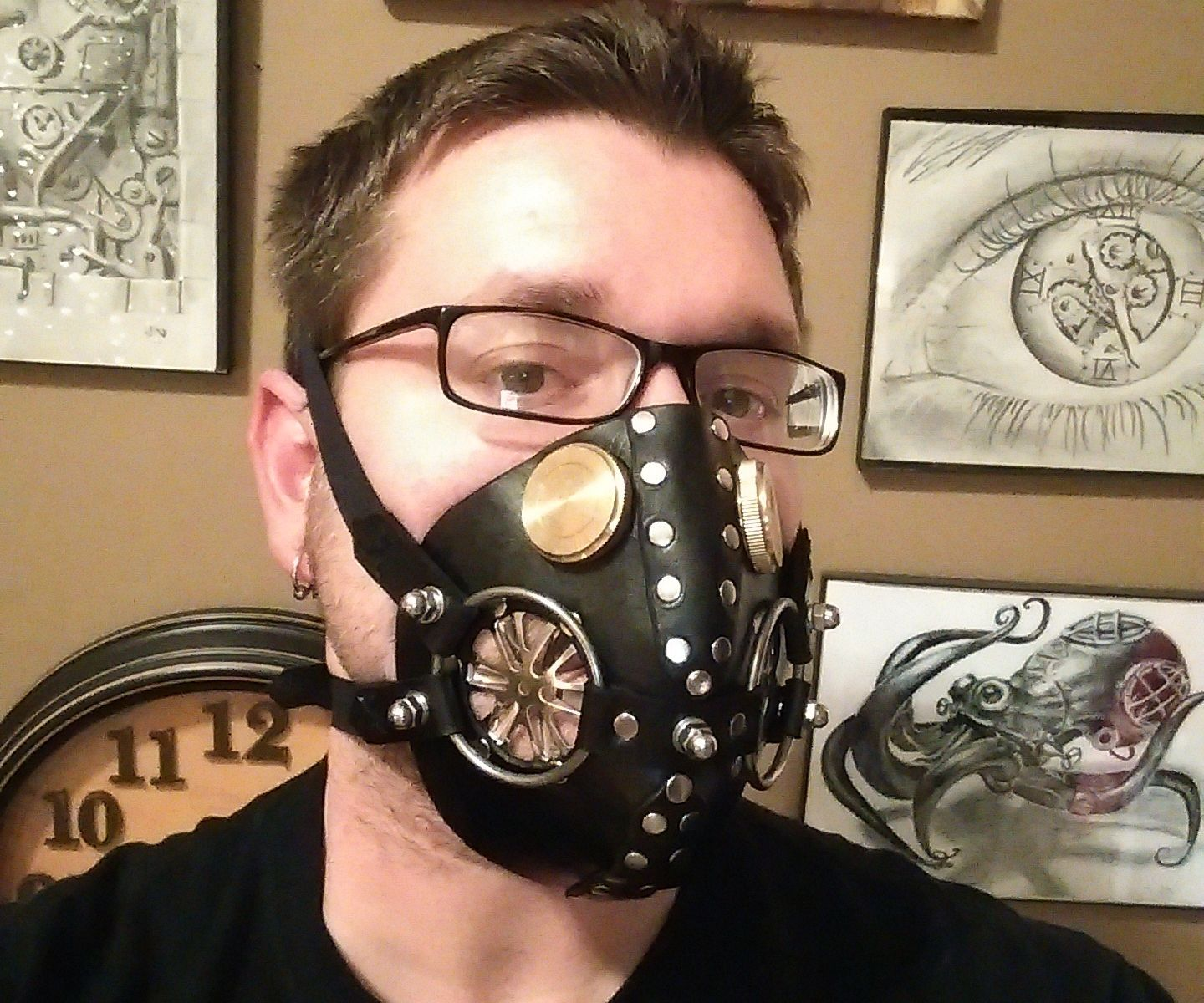 Leather Respirator Mask