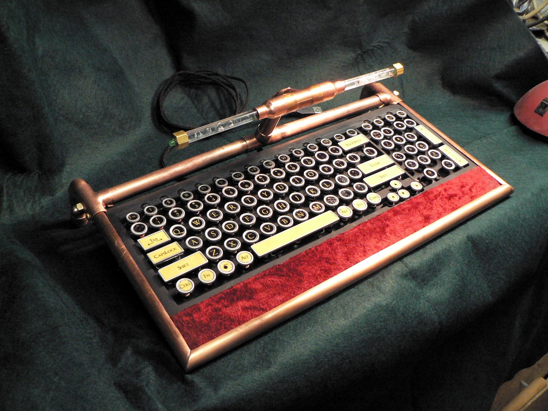Miss Betsy's Steampunk Keyboard