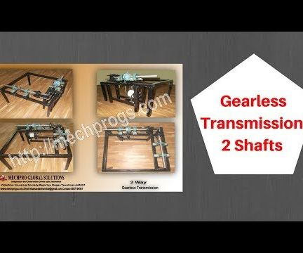 Gearless Transmission of 2 Shafts (Video Link Is in Last)