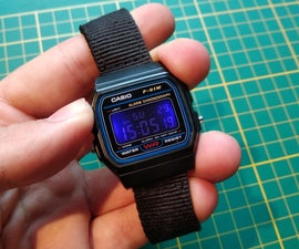 Modded Casio F-91W