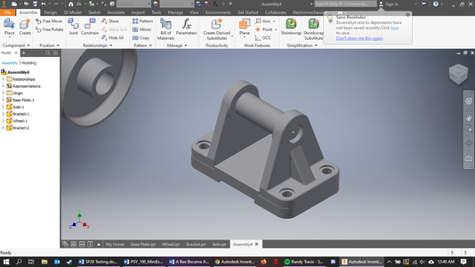 Axle Constrained to Both Brackets