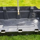 Recycling Plastic Water Tank to Make a Sink.