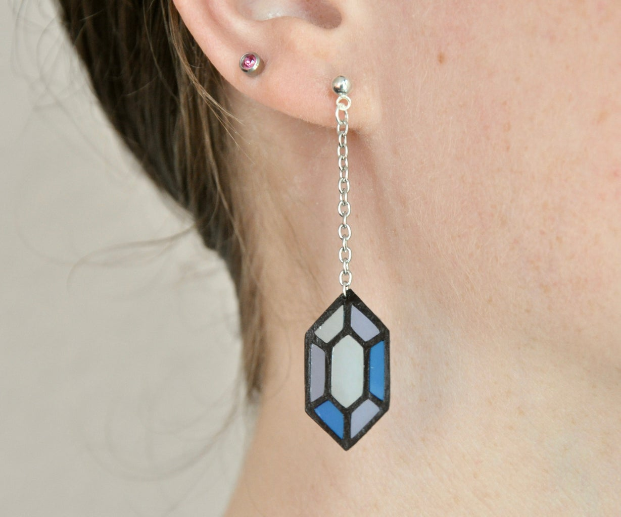 Paper 'Stained Glass' Earrings