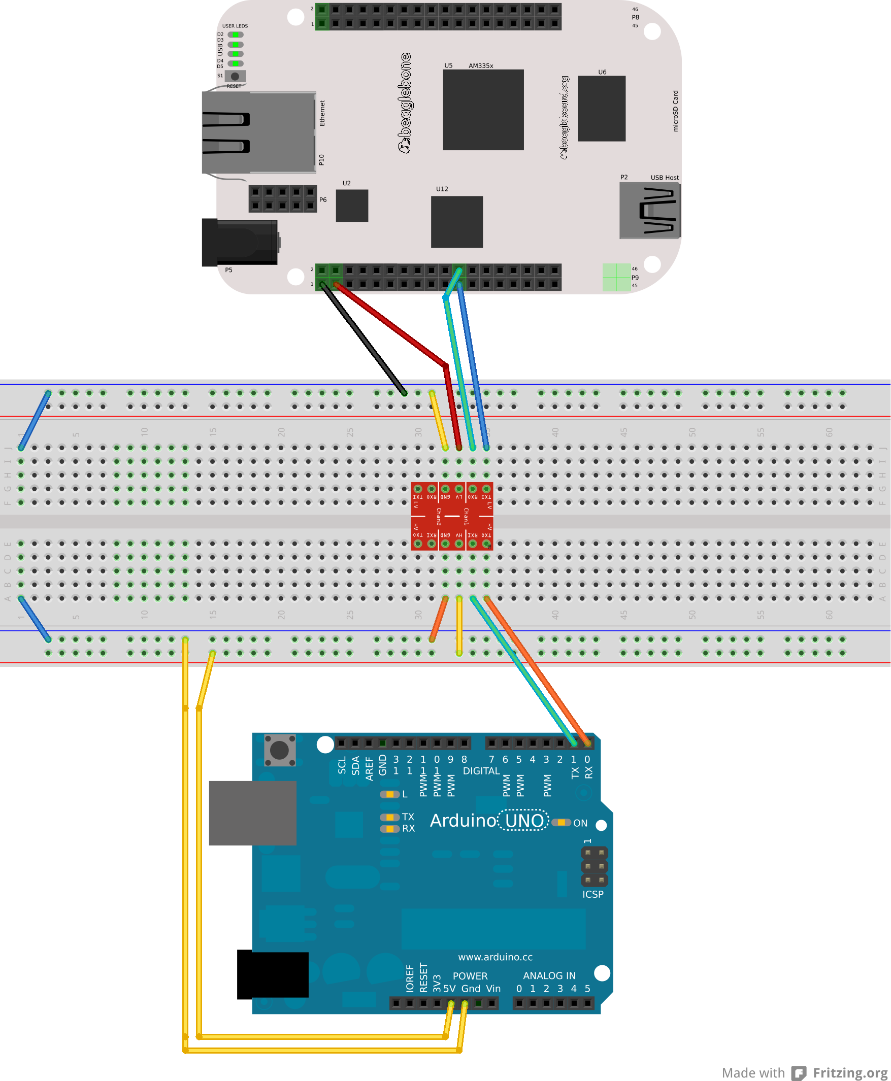 How to make a BeagleBone and an Arduino communicate
