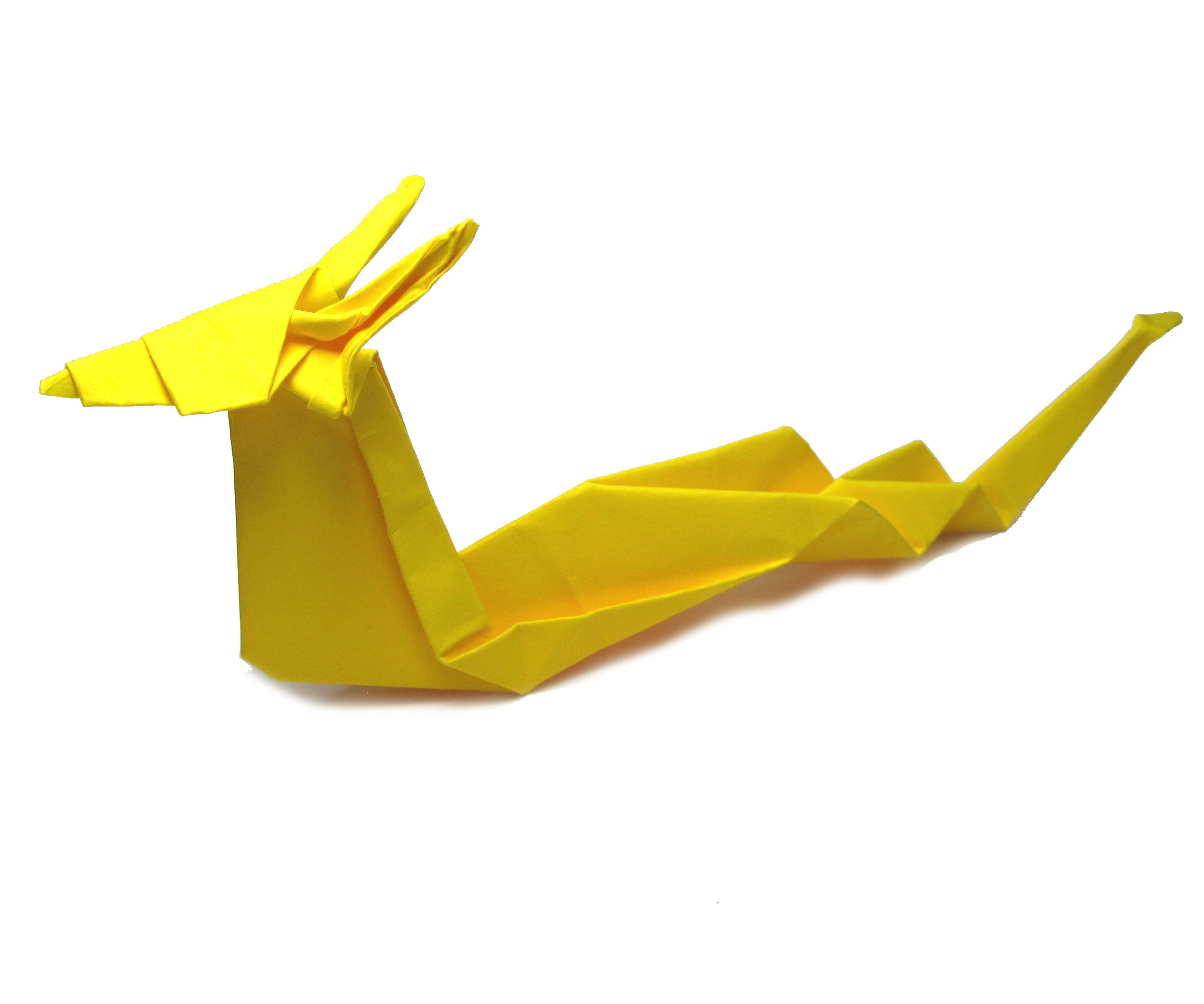 Origami Dragon Tutorial (Akira Yoshizawa)