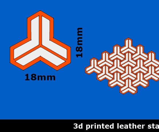 3d Printed Leatherstamp Designs