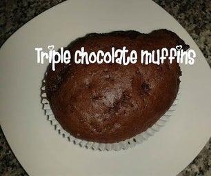 三重巧克力松饼配方