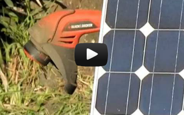 Rechargeable Weedeater Trimmer solar hack