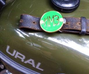 Bike Badge Belt Buckle