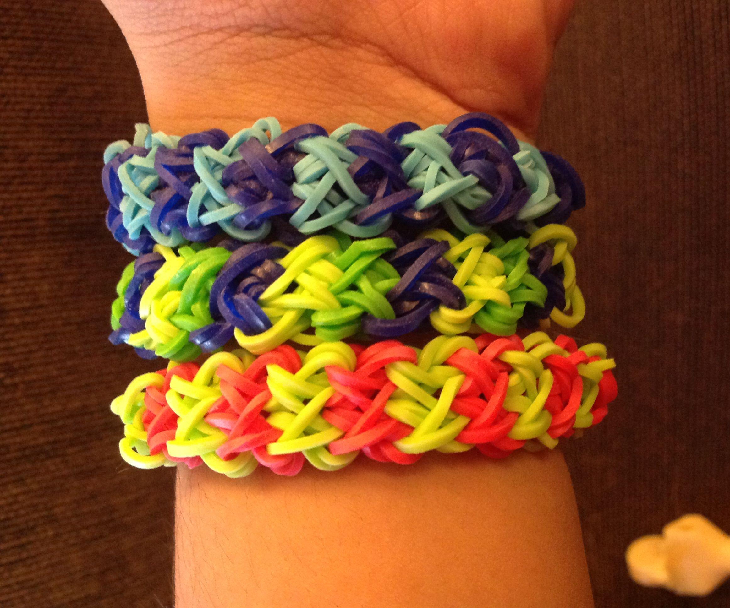 How to make Rainbow Loom bracelet double x cross *INTERMEDIATE LEVEL*