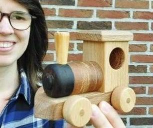 木制玩具火车机车