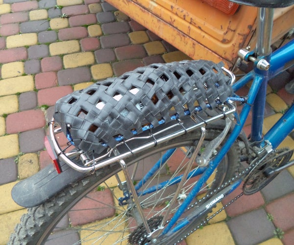 Bicycle Baggage Net From Old Inner Tube