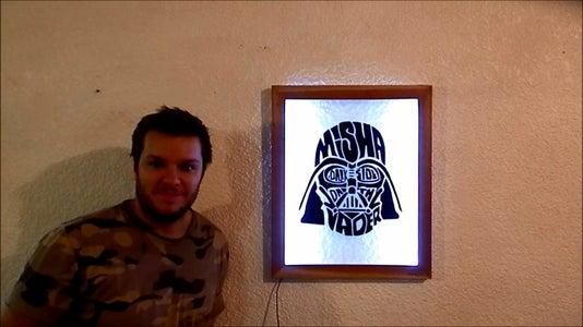 Darth Vader LED Frame (Star Wars)
