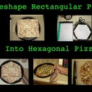Reshape Rectangular Pizza Into Hexagonal Pizza