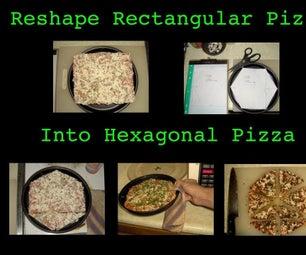 将矩形披萨重塑成六角形披萨