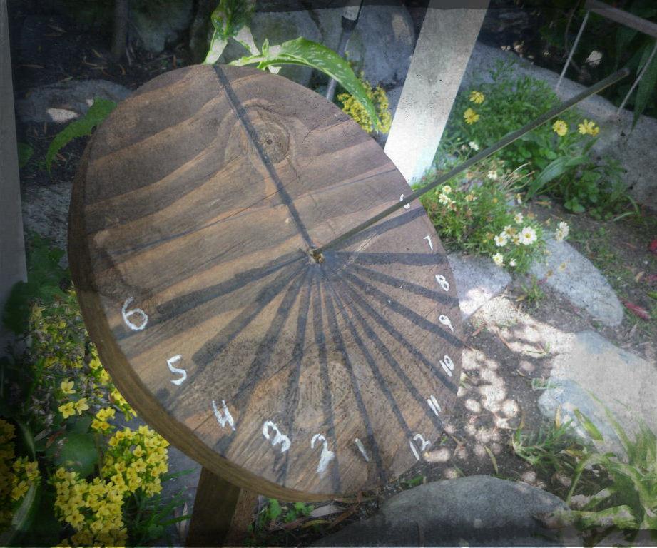 Sundial From Scrap Wood