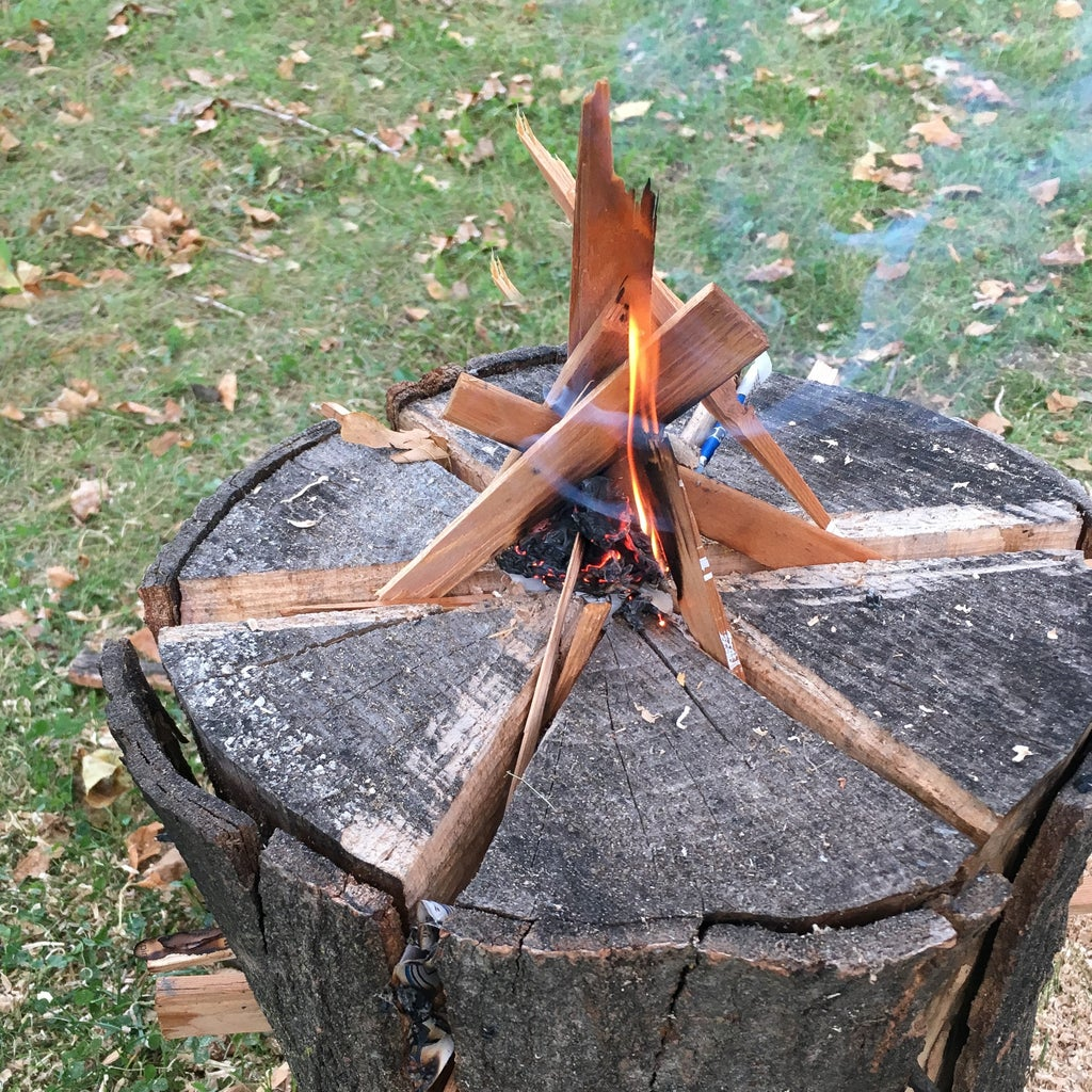 Add Kindling to Start the Swedish Fire Torch