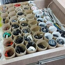 Super Simple DIY Cable Organizer System for Drawers From Toilet Rolls