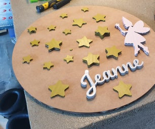 Kid Name Circle Board