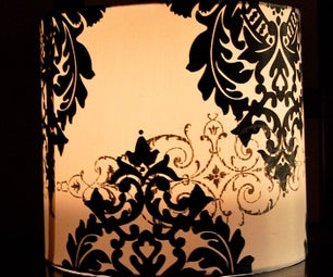 Lamp Shade As a Candle Holder/Lantern