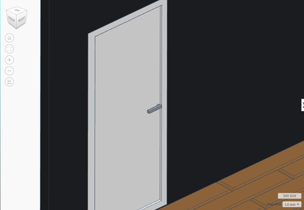 The Door. (Decided to Change the Walls to Black)