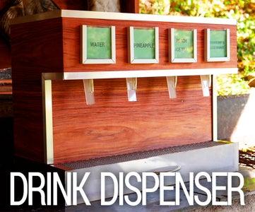 Electric Wooden Drink Dispenser
