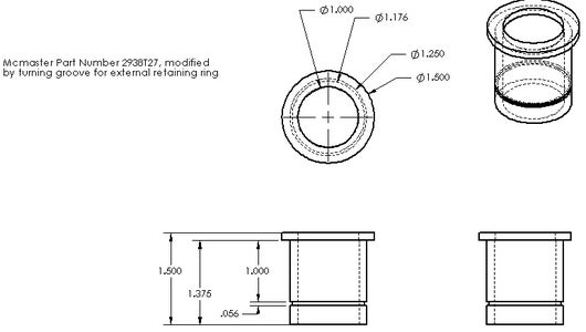 Turn a Groove Into Each Flanged Bearing and Install Retaining Rings