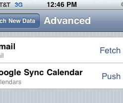 Setup IPhone to Fetch Gmail and Push Google Calendar