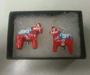 Dala Horse Earrings
