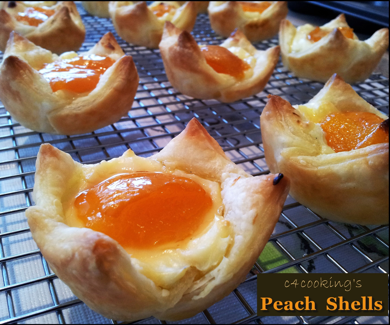 Peach Shells - Crispy Creamy Dessert