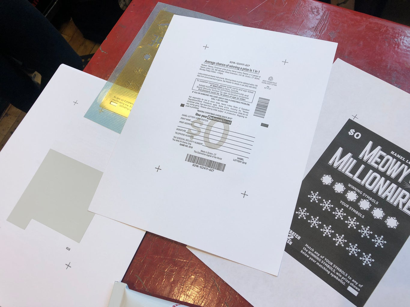 Cut and Apply the Scratch-off Sticker