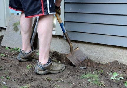 Begin Digging Your Patio Area.