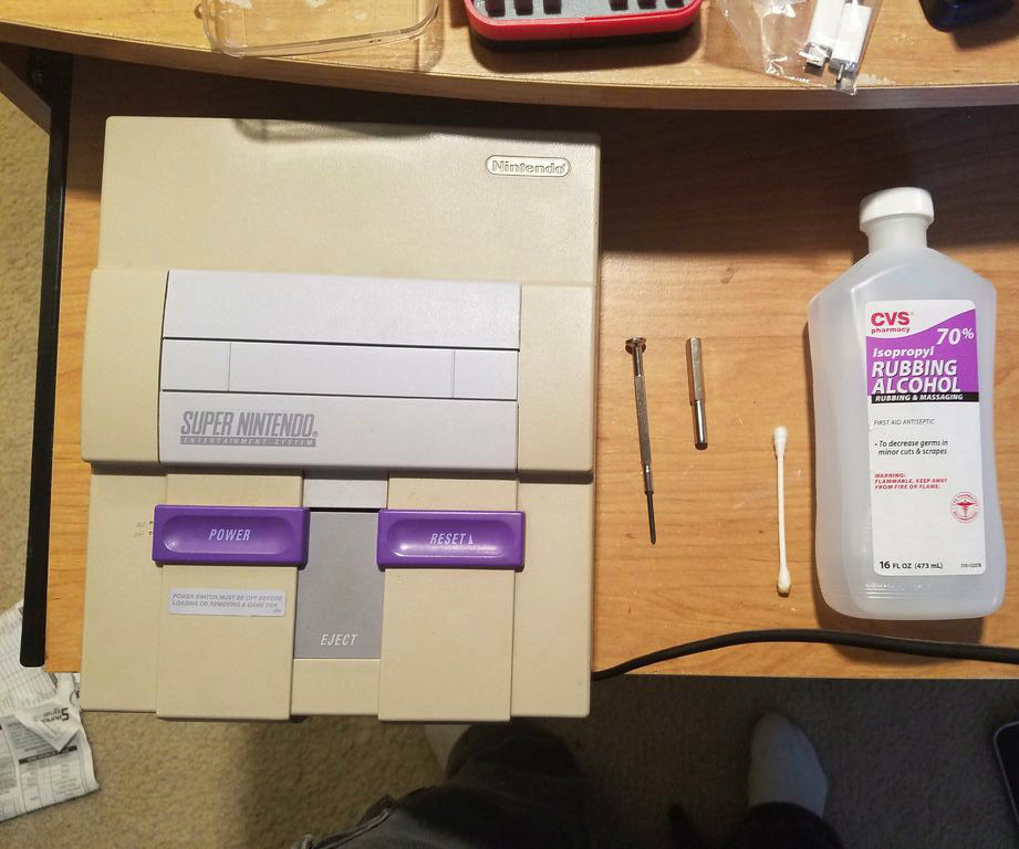 Restoring an SNES Super Nintendo