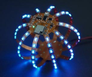 Flexball  - 一百像素柔性PCB球,带WiFi