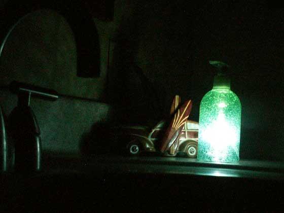 Make your own night light soap dispenser.