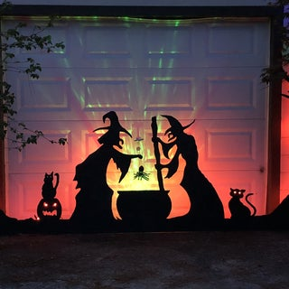 Halloween Garage Door Silhouette