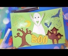 🎃 DIY Halloween Pop Up Card, Spooky Card, Paper Halloween Crafts