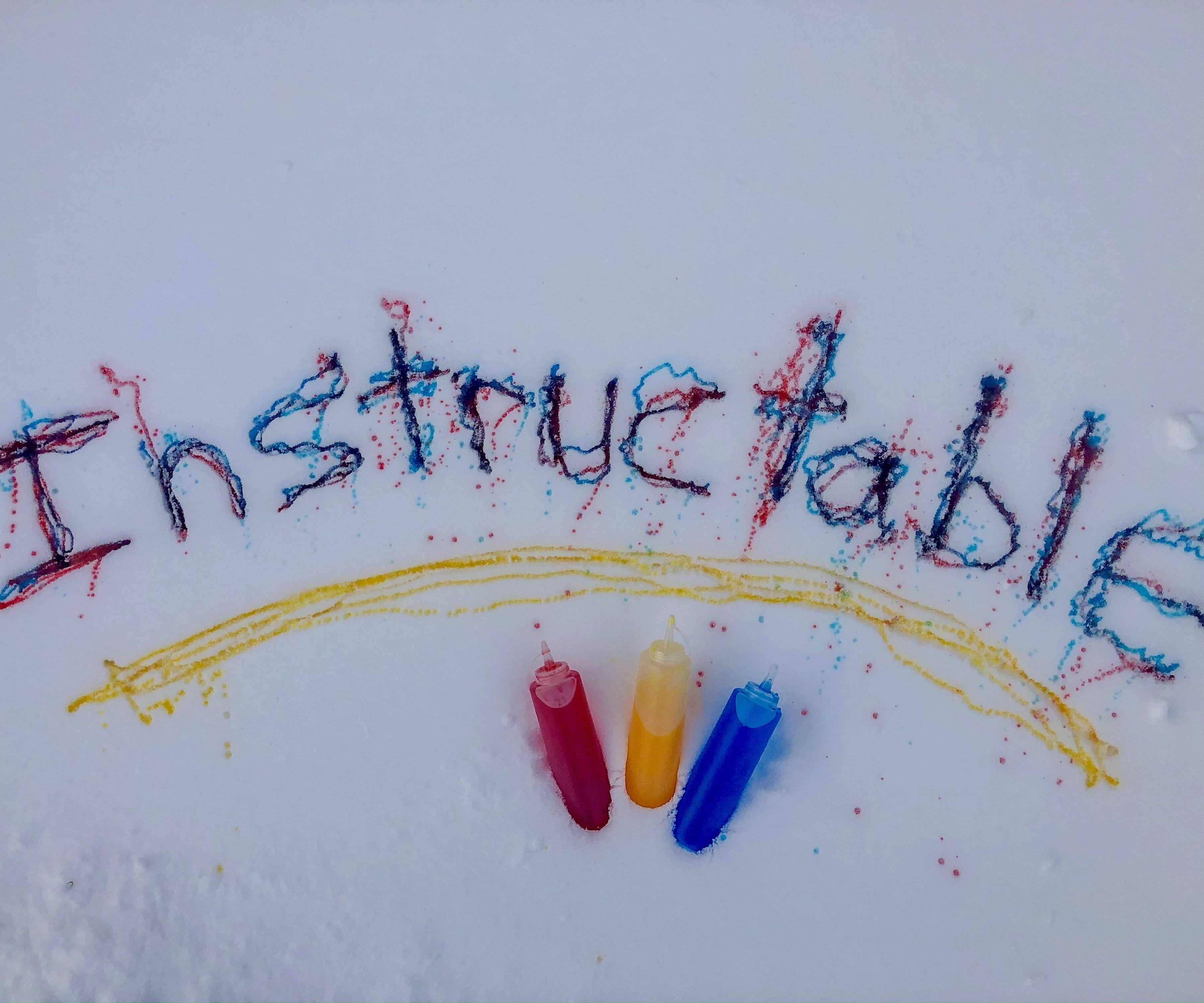 Easy Snow Paint