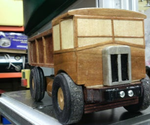 Wooden Truck With Self Tipping and Motor Noise