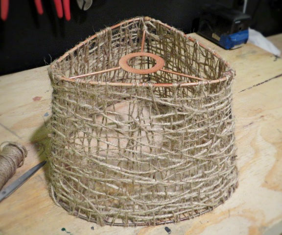 A Jute Twine Lampshade for Cheap
