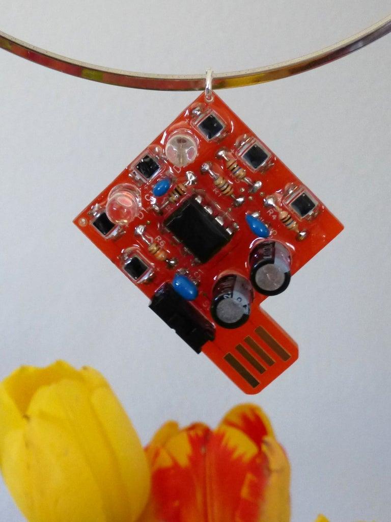 Solar Powered Blinky LED Jewelry