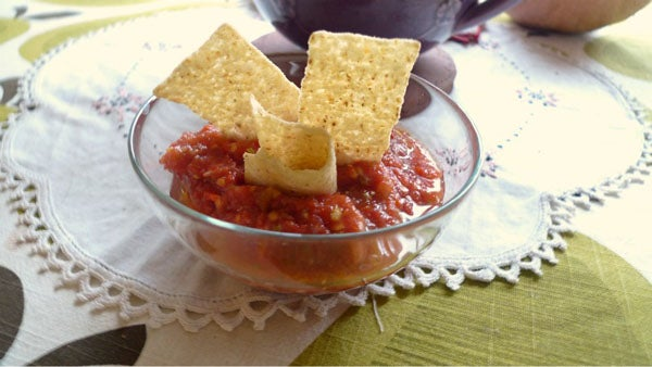 The Quick, Fast, Rapid, Yummy-In-Your-Tummy Salsa