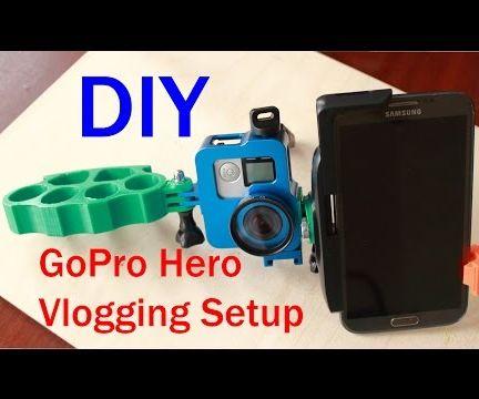 GoPro Vlogging or Selfie Setup Using 3d Printed Parts
