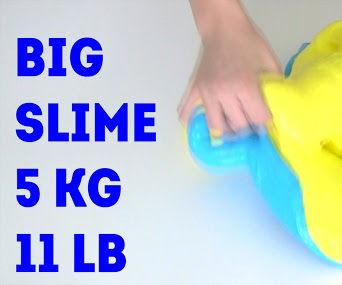 How to make GIANT SLIME 5000 gram (11 LB)